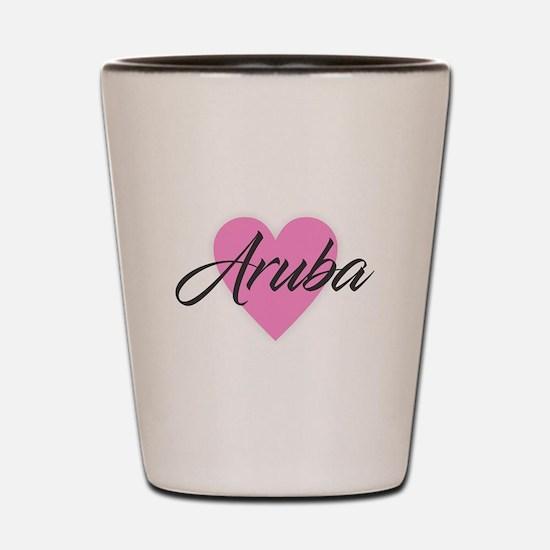I Heart Aruba Shot Glass