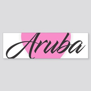 I Heart Aruba Bumper Sticker