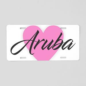 I Heart Aruba Aluminum License Plate