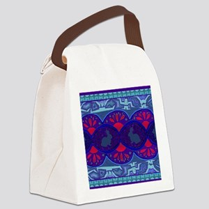 Bunny Show Mat Canvas Lunch Bag
