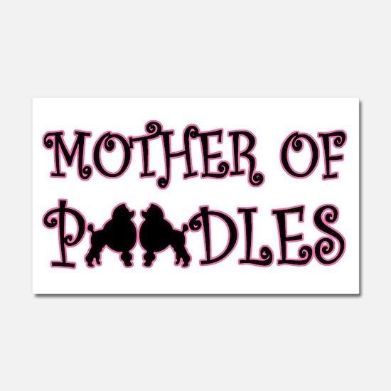 Mother of Poodles Car Magnet 20 x 12