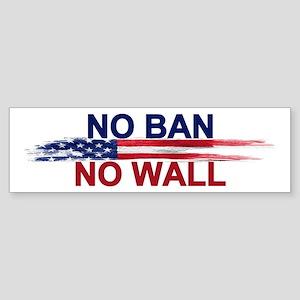 No Ban Wall Bumper Sticker