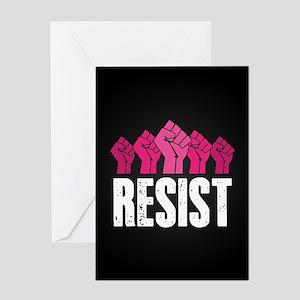 Resist Greeting Card