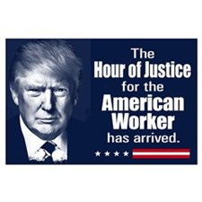 Trump Quote - American Worker Large Poster