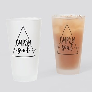 Gypsy soul triangle design Drinking Glass