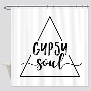 Gypsy soul triangle design Shower Curtain