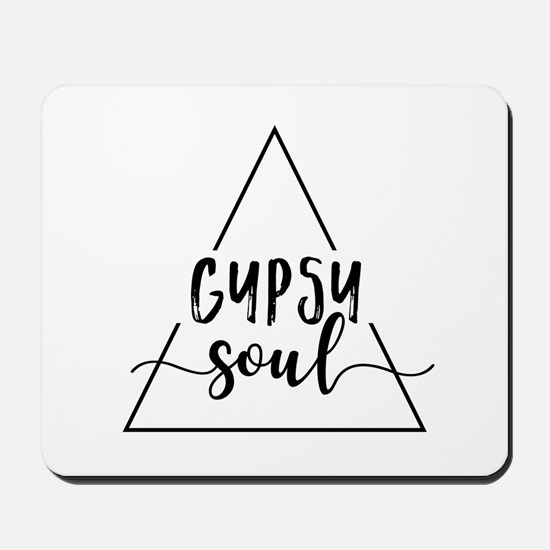Gypsy soul triangle design Mousepad