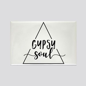 Gypsy soul triangle design Magnets