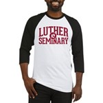 Curved Red LS Name Baseball Jersey