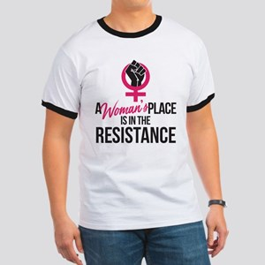 Womans Place in Resistance Ringer T