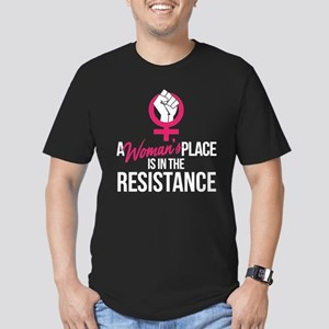 Womans Place in Resist Men's Fitted T-Shirt (dark)