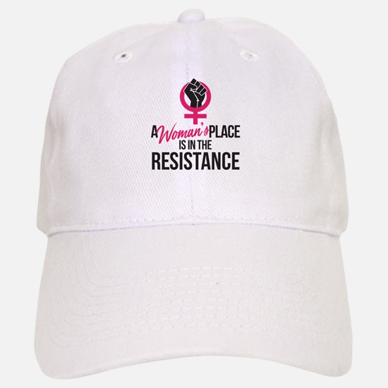 Womans Place in Resistance Baseball Baseball Cap