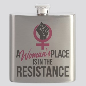 Womans Place in Resistance Flask