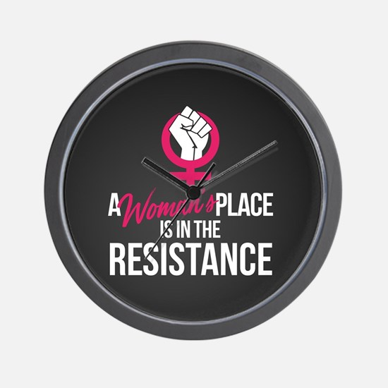 Womans Place in Resistance Wall Clock