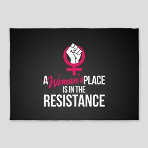 Womans Place in Resistance 5'x7'Area Rug