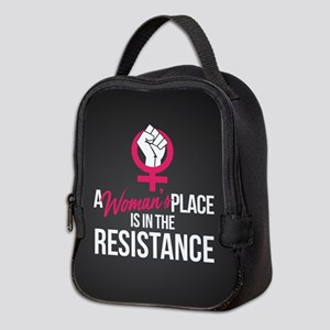 Womans Place in Resistance Neoprene Lunch Bag