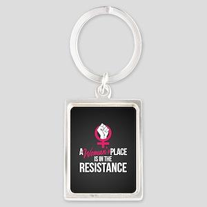 Womans Place in Resistance Portrait Keychain