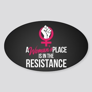 Womans Place in Resistance Sticker (Oval)
