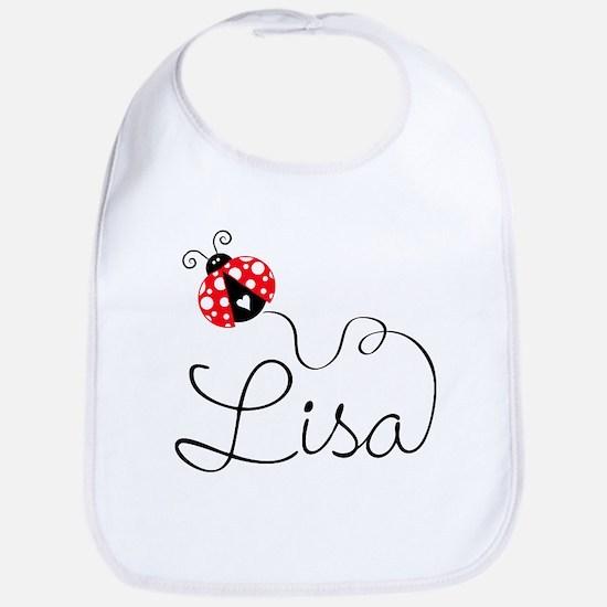 Ladybug Lisa Baby Bib