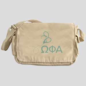 Omega Phi Alpha Letters Messenger Bag