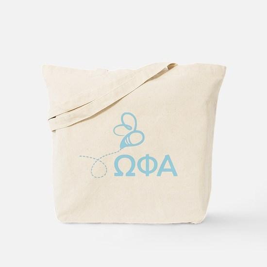 Omega Phi Alpha Letters Tote Bag