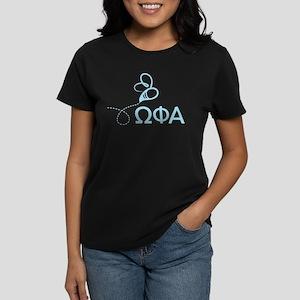 Omega Phi Alpha Letters Women's Dark T-Shirt