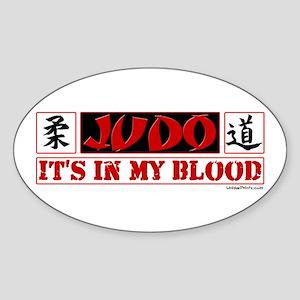 JUDO (IT'S IN MY BLOOD) Oval Sticker