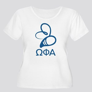 Omega Phi Alp Women's Plus Size Scoop Neck T-Shirt