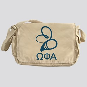 Omega Phi Alpha Dark Bee Messenger Bag