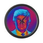 Pop Art President Trump Large Wall Clock