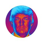 Pop Art President Trump Button