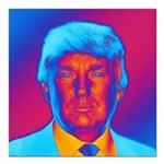Pop Art President Trump Square Car Magnet 3