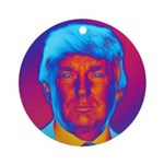 Pop Art President Trump Round Ornament