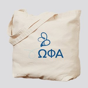 Omega Phi Alpha Sorority Letters and Bee Tote Bag