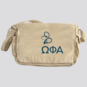 Omega Phi Alpha Sorority Letters and Messenger Bag