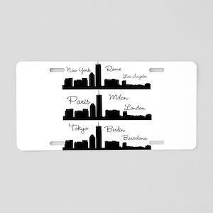 Fashion Capitals of the World Aluminum License Pla