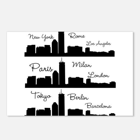 Fashion Capitals of the World Postcards (Package o