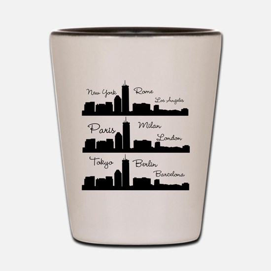 Fashion Capitals of the World Shot Glass