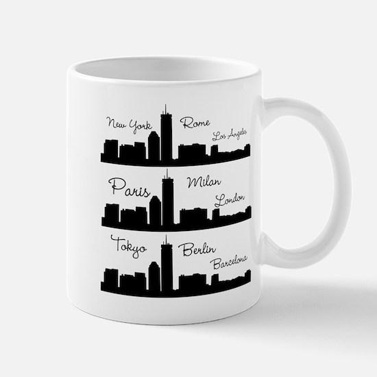 Fashion Capitals of the World Mugs