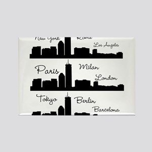 Fashion Capitals of the World Magnets