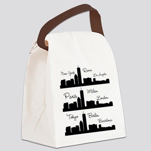 Fashion Capitals of the World Canvas Lunch Bag