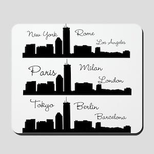 Fashion Capitals of the World Mousepad