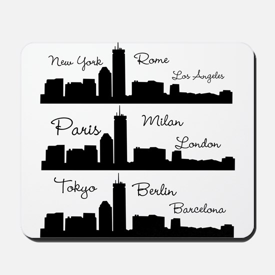 Fashion Capitals of the World Mousepad