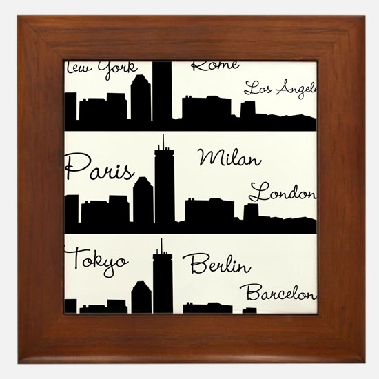 Fashion Capitals of the World Framed Tile