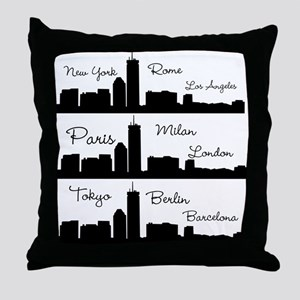 Fashion Capitals of the World Throw Pillow