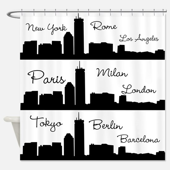 Fashion Capitals of the World Shower Curtain