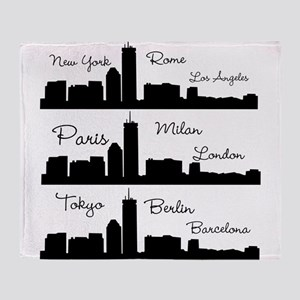 Fashion Capitals of the World Throw Blanket