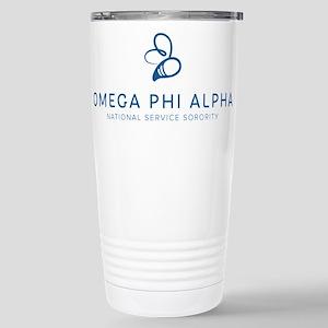 Omega Phi Alpha Sororit Stainless Steel Travel Mug