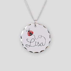 Ladybug Lisa Necklace Circle Charm