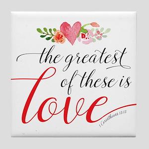 Greatest Love Tile Coaster